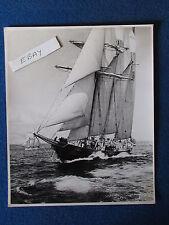 "Original Press Photo - 10"" x 8"" - Sailing Ship (Cutter?) -Early 1960's? - Lot B"
