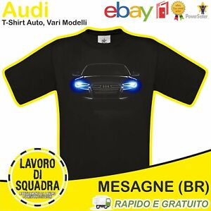 T-Shirt - AUDI - TT A1 A2 A3 A4 A5 A6 Auto Car Italian Motor Motori Idea Regalo