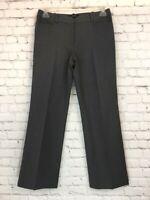 Talbots Womens Size 6 Signature Straight Leg Gray Dress Pants Wool Blend Stretch