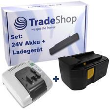 2in1 set Batterie 24v 3000mah ni-MH + Chargeur avec usb pour Hilti te2-a sfl24 b24