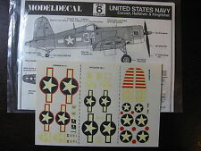 1/72  VINTAGE MODEL DECAL N°6 UNITED STATE NAVY CORSAIR HELLDIVER KINGFISHER