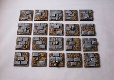 25mm Square scenic resin bases unpainted X10, Fantasy Sci-Fi by Daemonscape