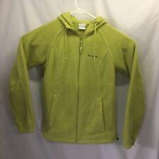Columbia Fleece Hoodie Unisex Size Medium Light Green Zipper Closure
