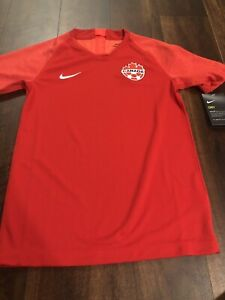 New Nike Youth Canada Dry Soccer Jersey Size Small Red Maple Leafs