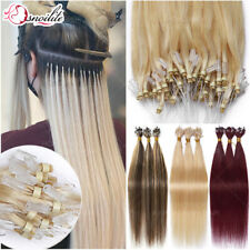 """THICK 14""""-24"""" Micro Ring Loop Nano Remy Human Hair Extensions Full Head 200S 1G"""