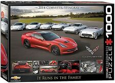 Eurographics Corvette Runs in The Family Puzzle 1000-piece