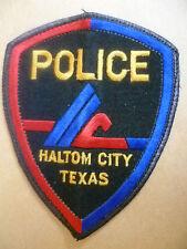 Patches: HALTOM CITY TEXAS POLICE PATCH (NEW* 12x9.5 cm)