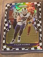 2020 prizm football checkerboard Tyler Higbee