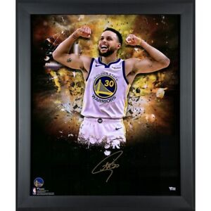 """STEPHEN CURRY Autographed Warriors """"In Focus"""" 20 x 24 Photograph FANATICS"""