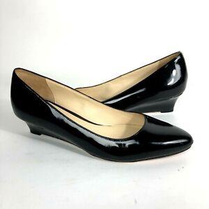 Cole Haan Womens 8.5 B patent leather dress shoe heels Career Comfort low wedge