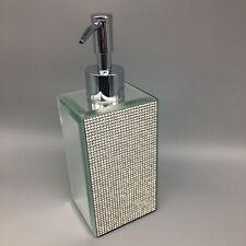 Bella Lux Rhinestone Mirror Liquid Soap Pump Dispenser Crystal Bathroom Lotion