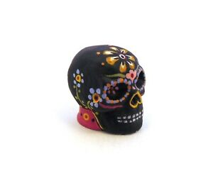 The Day of the Dead Skull Thimble Hand Painted Pewter Collectible Thimble Gift