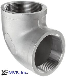 """1/2"""" 150 Female NPT 90° Elbow Cast 304 Stainless Steel Pipe Fitting <SS010441304"""