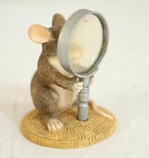 Charming Tails 89/626 I See Things Clearly Now Mouse Magnifying Glass Figurine