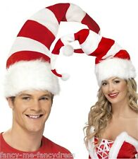 Femmes homme candy cane à rayures noël noël chapeau festif costume robe fantaisie