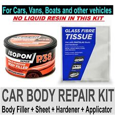CAR BOAT BODY REPAIR KIT - FILLER AND FIBRE GLASS SURFACE TISSUE SHEET