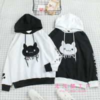 Cute cat embroidery Japanese Preppy Style Sweet Lolita Hooded Sweaters Coat Tops