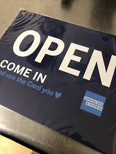 Open Closed Business Restaurant Store Sign American Express Credit Card New