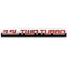 BUMPER STICKER METAL EMBLEM DECAL TRIM BADGE POLISH RED 3.5L 3.5 L TWIN TURBO