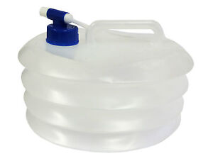 5 Litre COLLAPSIBLE FOLDING WATER CARRIER FOOD SAFE CONTAINER camping caravan