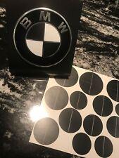 MATTE BLACK BMW Emblem Overlay Sticker Fits Hood Trunk Wheels Steering Wheel