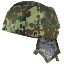 Mil-Tec 100% Cotton Bandana - Headwear Classic Military Cut Scarf Flecktarn Camo