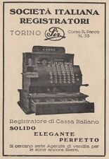 Z3687 Registratore di Cassa Italiano SIR - Pubblicità d'epoca - 1928 advertising
