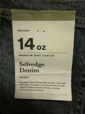 NEW! Men's Slim Straight Fit Selvedge Denim Rigid Jeans - Goodfellow & Co 38x32