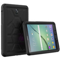 For Galaxy Tab A 8.0 Poetic [Anti-Slip] Shockproof Black Silicone Case Cover