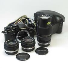 Olympus OM10 SLR Camera w/ Manual Adapter, Zuiko 28mm, 50mm & 75-150mm Lenses