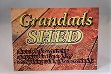 Vintage personalised Shed e.g Grandad, Kev's, Danny's A5 metal wall sign plaque