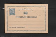 entier postal  carte Mozanbique dez reis  bleu  neuf