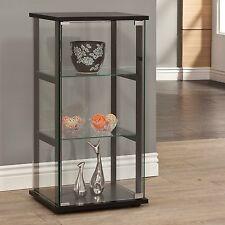 Curio Cabinet Display Case Small Storage Shelf Trophy Case 3 Tier Collectibles