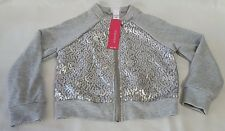 New Girls Gray Sequin Xhilaration Long Sleeve Jacket Coat Children's Size XS 4/5