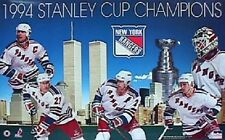 1994 New York Rangers Stanley Cup Champs Starline Poster OOP Messier Twin Towers