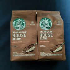 STARBUCKS House Blend Medium Roast Ground Coffee 2 x 200g NEW