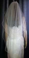 "Pale Ivory veil scattered with Swarovski crystals 30""/42"" 2T fingertip Circle"