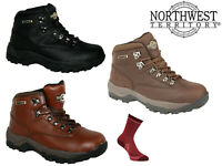 Northwest Territory Hiking Boots Womens Leather Waterproof Walking Trek Trail