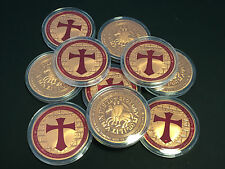 10 x 1 oz Tempelritter Kreuzritter 999 Kupfermdedaillen Kupfer Kupferbarren