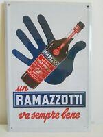 Amaro Ramazzotti , Targa  Pubblicitaria in latta