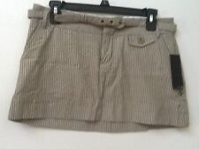 NWT WOMENS JUNIORS HURLEY SKIRT SZ 5 GREEN STRIPED BELTED MSRP $42
