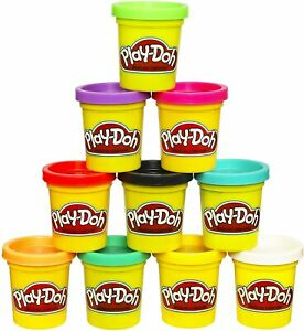 NEW Play-Doh Modeling Compound 10-Pack Case of Colors, Non-Toxic, Assorted Color