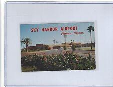 Bonanza Airlines? DC-3 at Phoenix AZ Sky Harbor airport postcard