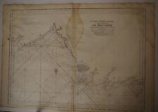 Carte marine Bretagne St Brieuc Brehat époque  XVIII° Siècle Neptune Francais