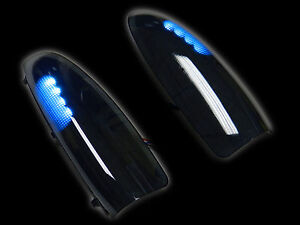 2003-2007 Super Duty Side Mirror Turn Lights WHITE LED SMOKE Lens Replacement