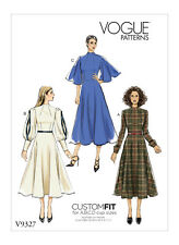 Vogue Sewing Pattern 9327 Misses Sz 14-22 Custom Fit Dress W/ Sleeve Variations