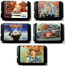 Lot 5x JEUX / GREAT GAMES Sega Megadrive SHINING FORCE, VERMILION, PUYO PUYO...