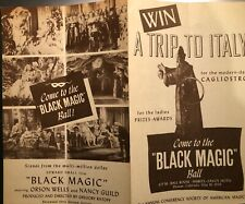 "Orson Welles As Cagliostro In ""Black Magic"" Movie Ephemera Lot"