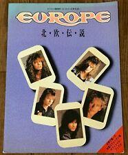 EUROPE 1988 JAPAN PHOTOBOOK hokuoudensetsu Joey Tempest / michael johansson