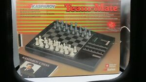 Vintage Saitek Kasparov electronic chess games boxed